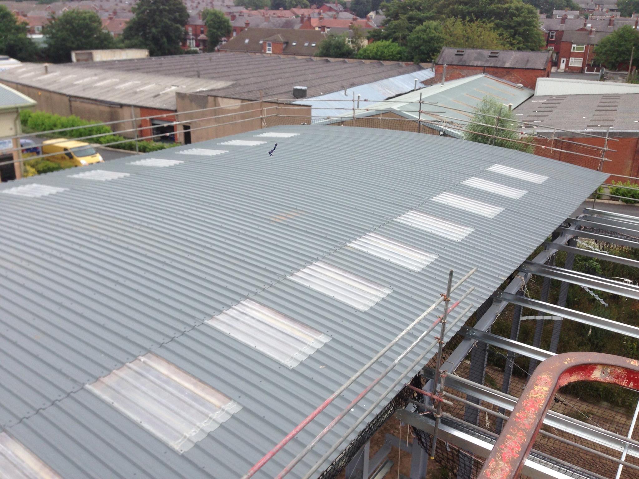 Grp Roof Lights Amp Sheets Contractors Alltite Metal Roofing