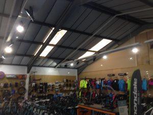 roof lights in shop