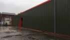 Wall cladding building