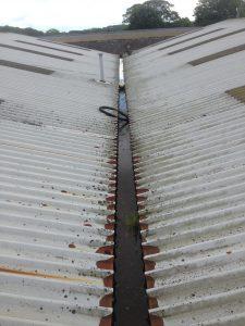 gutters in roof