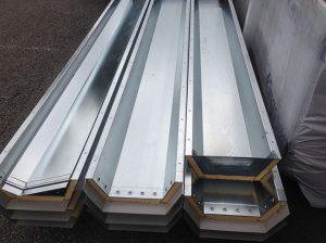 Galvanised gutters