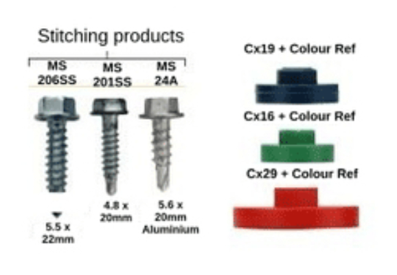 Sizes Available for Self Drilling Metal Roof Screws